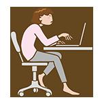 パソコン見る人